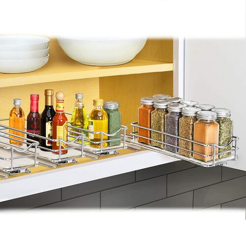 LYNK Professional Pullout Spice Rack Slide-out Cabinet Organizer