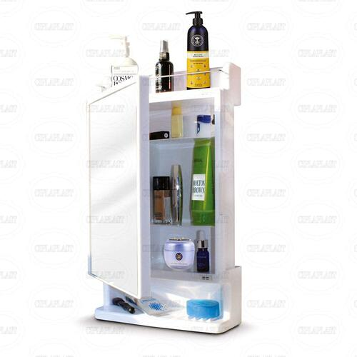 Ciplaplast Rich Look Bathroom Cabinet with Mirror White (Made in India)