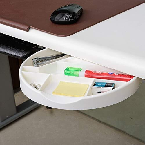 Ebco Stationery Organiser-Desk Undermount Round Tray - Ivory