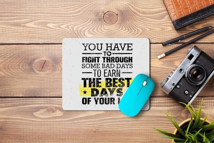 TECHBITE Anti-Slip Mouse Pad Mat with Motivational Quotes for Laptop Computer, PC, Desk (16 × 22 cm)