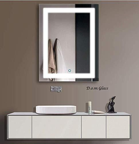 D.O.M Glass LED Bathroom Mirror, Vanity with Lights-Wall Mounted Backlit- 18 x 24 Inch