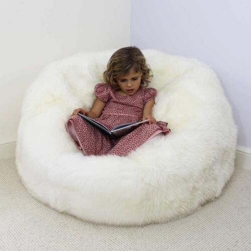Bean Bag White Fur XXXL Size Without Beans Very Attractive And Luxury fur and leather Bean Bag