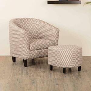 Home Centre Accent Chair with Ottoman