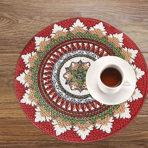 Home Talk Set of 2 Braided Cotton placemats