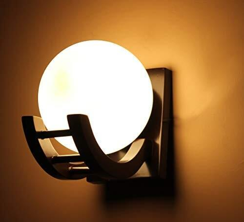 Imper!al Wooden Wall Light Wall Hanging Lamp for Bedroom, Living Room, Home Decor (Brown)