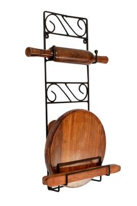 Worthy Shoppee Wrought Iron Chakla Belan Stand