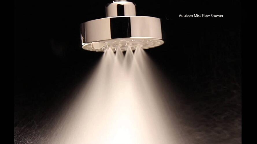 "Aquieen H2Micro Round 3 Function Watersaving Mist & Rain Overhead Shower (H2micro 4"")"