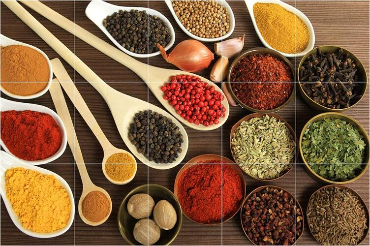 Asmi Collections Herbs and Spices Wall Stickers for Kitchen
