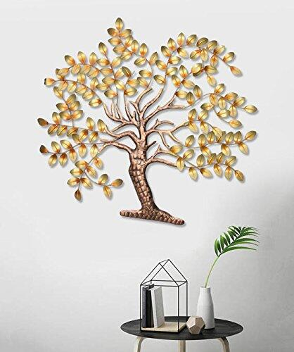 Collectible India Large Metal Creative Tree of Life Design Decorative Wall Hanging Sculpture Beautiful Home Decor Art