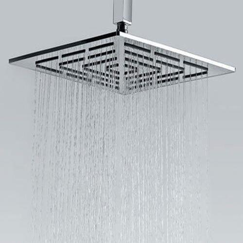 PESCA R/N Maze Art No.:6201 Stainless Steel 304 Grade Square Overhead Shower Chrome (12X12)