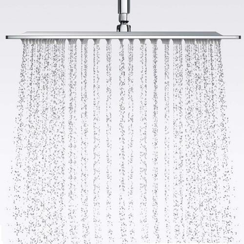 Pesca R/N Ultra Slim Stainless Steel Square Shower Head 12x12 inch, Steel Grade 304, (Series :- Super Heavy)
