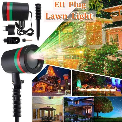 Brahmani Marketing GENKO ® Outdoor Laser Projector LED Lamp EU Plug Fairy Star with Decoration Light (Multicolour)