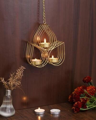 Collectible India Tealight Candle Holder Metal Wall Hanging Wall Art Sconce for Diwali Home Living Room Decor/Diwali Decoration Items/Diwali Decorations/Diwali Gifts for Family and Friends