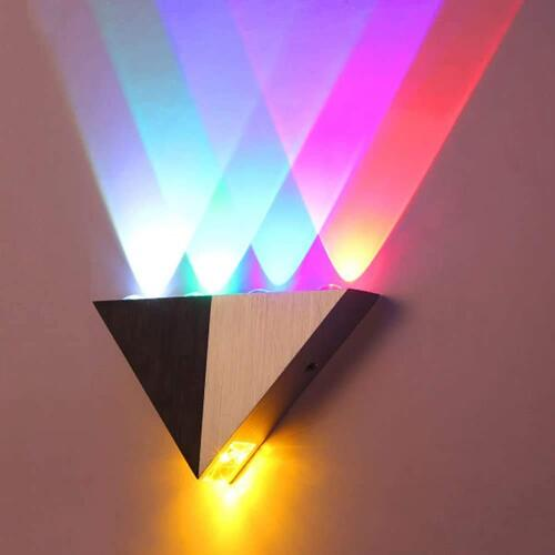 Ess Emm Modern Triangle 5W LED Wall Sconce Light Fixture Indoor Hallway Up Down Wall Lamp Spot Light Aluminum Decorative Lighting for Theater Studio Restaurant Hotel (Hardwired)-Pack of 1