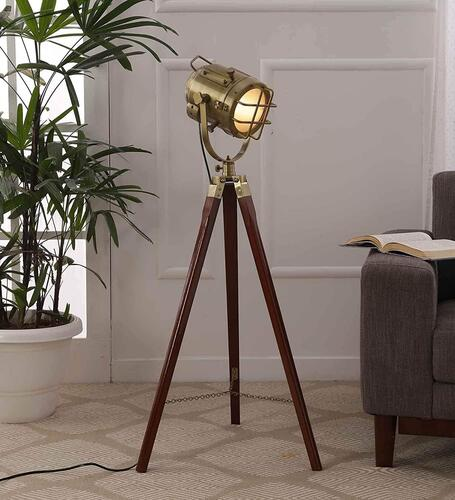 Simona Decorative Antique Tripod Floor Lamp