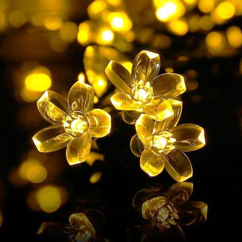 Techno E-Tail Blossom Flower Fairy String Lights, 20 LED Christmas Lights for Diwali Home Decoration (Warm White)