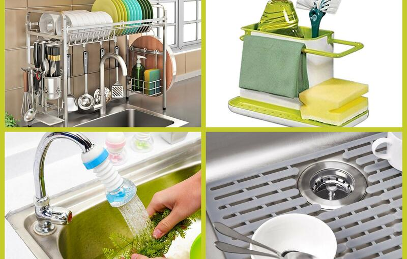 10 Kitchen Sink Accessories To Make your Kitchen Clutter-Free and Organized
